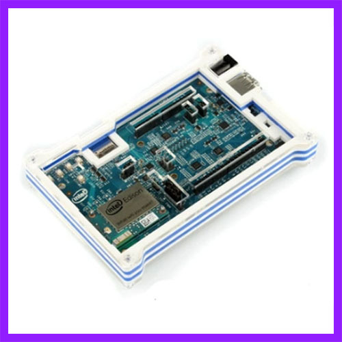 Matching Blue And White Color Acrylic Shell For Intel Edison Development Board