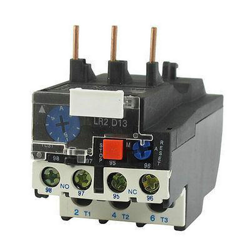 JR28-25 6A 4-6A 3 Phase Motor Protector 1NO 1NC Electric Thermal Overload Relay LR2 D13 2 pin thermal overload protection