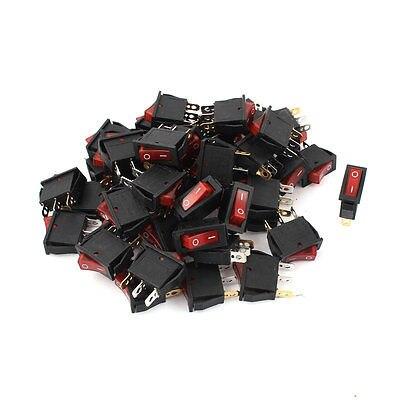 50 x KCD3 3Pin SPST On/Off Red Light Rocker Switch AC 15A/250V 20A/125V