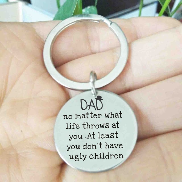 Dad Birthday Gift Fathers Day From Daughter Keychain Gifts For New