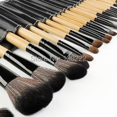 O envio gratuito de 15 pçs/set pincéis de maquiagem kit make up brushes blending pincel maquiagem make up tools escova com saco de couro