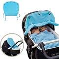 Azul suave Calidad Suave Cómodo Cochecito de Bebé Protector Accesorios Sombrilla Dom Cubierta de Seguridad Portátil para el Cuidado Del Bebé