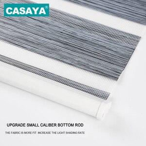 Image 3 - Full Light Shade Roller Blinds Dust Cover Design Thicken Linen Fabric  28mm Aluminum Track Zebra Blinds for Living Room