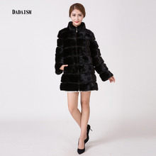 75 cm long, Ms. natural mink fur warm coat free shipping