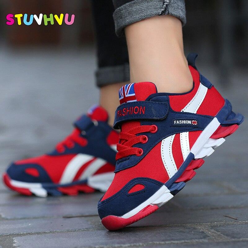 2018 новая детская обувь для мальчиков кроссовки для девочек спортивная обувь размер 26-39 Детский досуг кроссовки Повседневные Дышащие детские кроссовки обувь