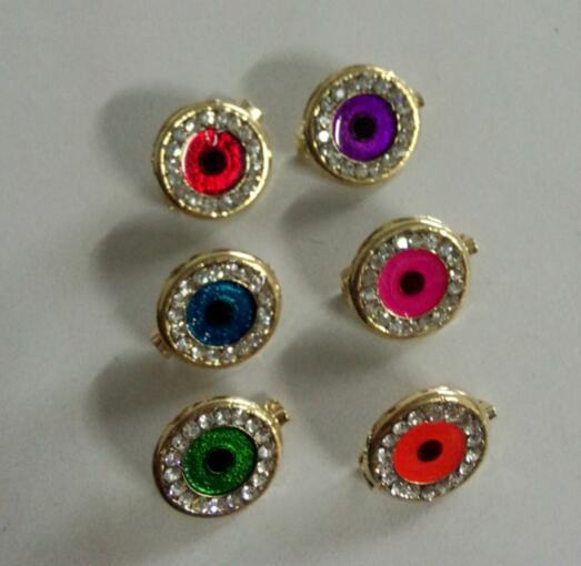 Hijab brooch jewelry brooch pin mini eye shawl fix safety fashion brooch scarf pin 6 colors 12pc/lot