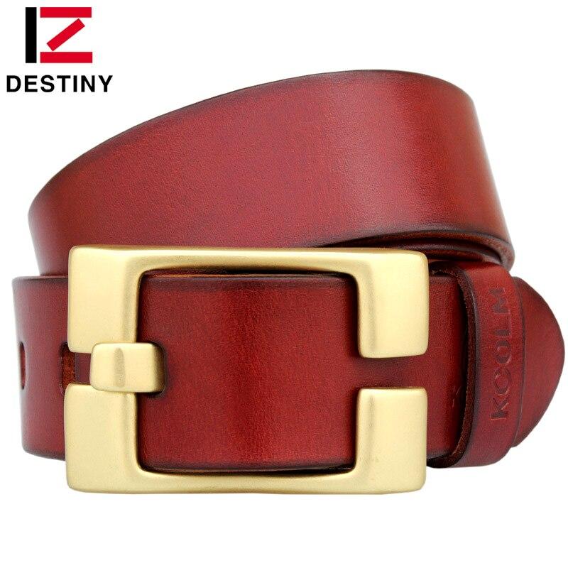 DESTINO Famosa Marca Cinturones Hombres Correa de Cuero Genuina - Accesorios para la ropa