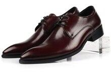 Мода черный/коричневый загар свадебные туфли человек платье обувь из натуральной кожи указал toebusiness обувь мужская обувь оксфорд