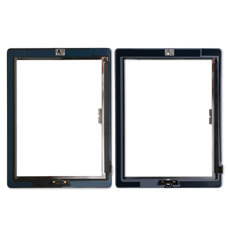 20Pcs lot Touch Screen Glass Digitizer Assembly for iPad 3 4 with home button Adhesive Glue