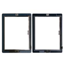 20 יח\חבילה מגע מסך זכוכית Digitizer עצרת עבור iPad 3/4 עם לחצן בית + דבק דבק מדבקת החלפה חלקי תיקון