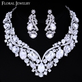 2015 New Free Shipping Luxurious Large Top Crystal Bridal Jewelry Sets Wedding Jewelry Necklace and Earrings for Women TL005