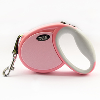 Armi store Pink Fashion Style Retractable Automatic Pet Dogs Collar Leashes 6043013 Dog Leash Lead Traction Accessories 3 M / 4M