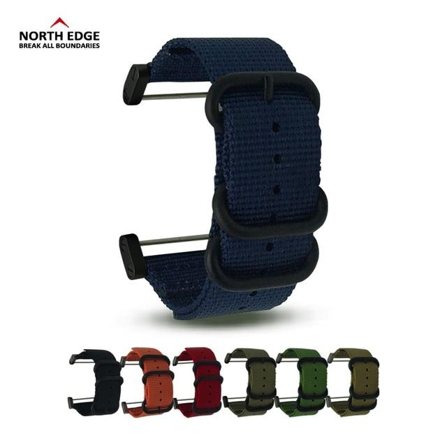 Смотреть band 24 мм ширина Военная Униформа цвет спортивные наручные часы ремешок заменены нейлон с разъемом linker для RangeRidgeAltay Северная режущая кромка
