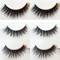 3Pairs Natural Thick 3D False Eyelashes Makeup Fake Cross Eye Lashes Extensions Fast Shipping