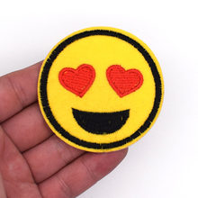 2018 Special Offer Sale 3d 2pcs Emoji Patch Sewing Kids Cartoon Motif Clothes Stickers Cute Iron On Applique For Jeans Diy(China)