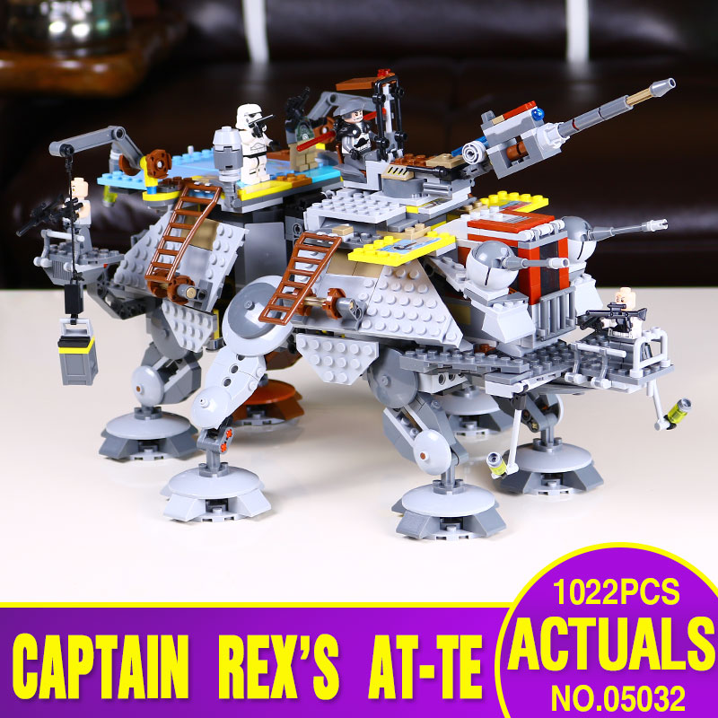 font b LEPIN b font 05032 740pcs Star Wars Captain Rex s AT TE 75157