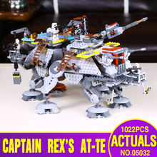LEPIN 05032 740pcs Star Wars Captain Rex's AT-TE 75157 Building Blocks Compatible with  Star Wars Toy Boys Toys Gift legoe