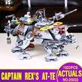 LEPIN 05032 740 unids Star Wars Capitán Rex Compatible con Star Wars AT-TE 75157 Bloques de Construcción de Juguete Juguetes de Los Muchachos regalo