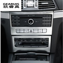 цены Inner Center Console CD Panel Cover For Benz E Class Coupe W207 C207 2014-2016