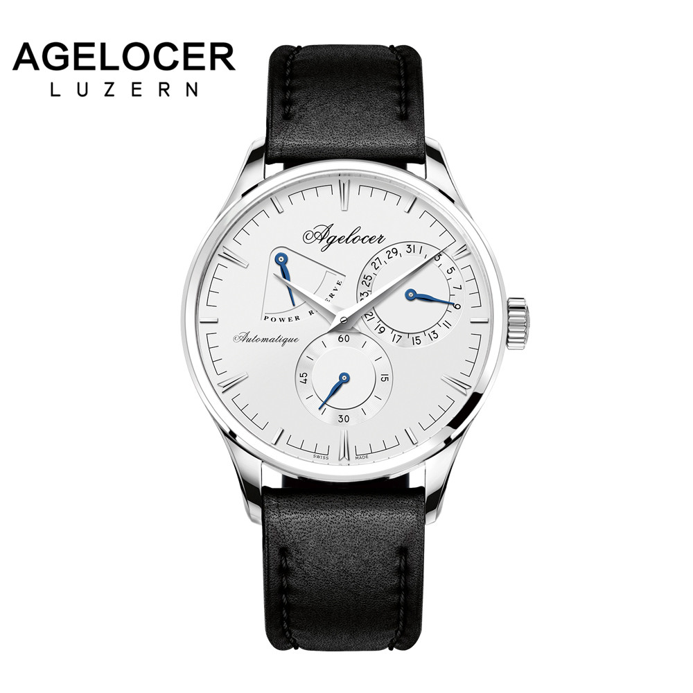 Agelocer brand fitness watch original design mechanical wristwatch Male Clock Casual Fashion watch power reserve 42 hours