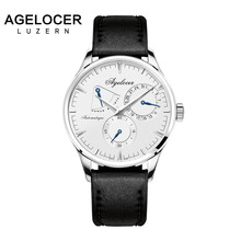 Agelocer brand fitness watch original design mechanical wristwatch Male Clock Casual Fashion watch power reserve 42