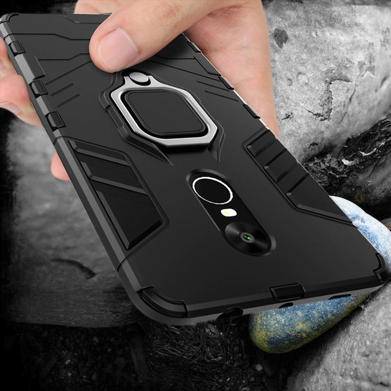 Funda protectora funda de teléfono para Xiaomi Redmi Note 4 4X 5 Pro, a prueba de golpes, con soporte, funda para Redmi 6 Pro, 360