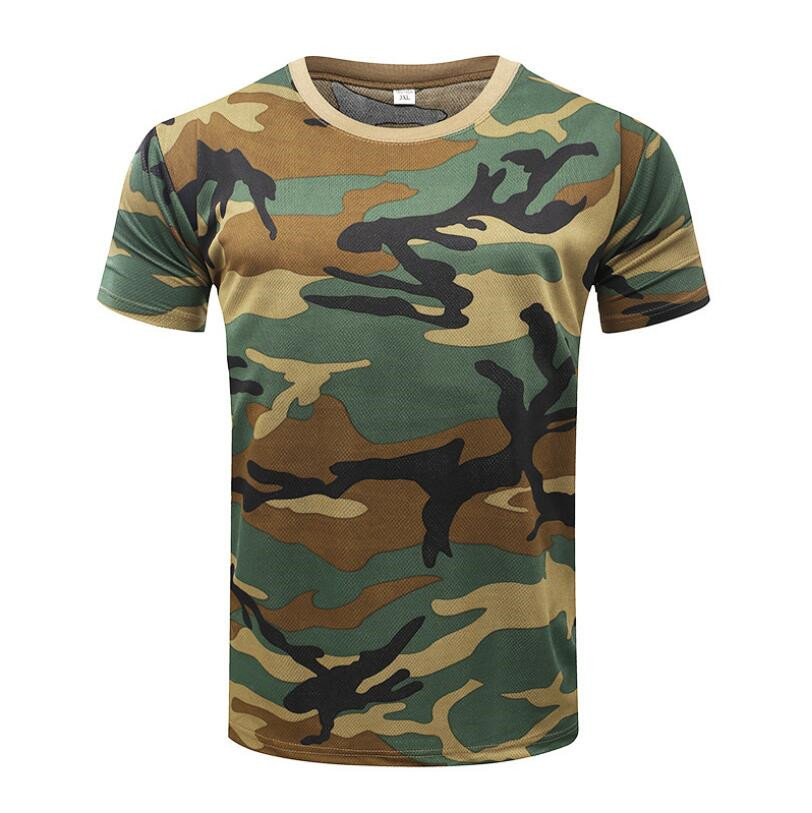 Men's   T  -  shirt   Military Camouflage Casual Tactical Combat O-Neck   T     Shirt   Men Quick Dry Short Sleeve Camo Clothing Tee Tops