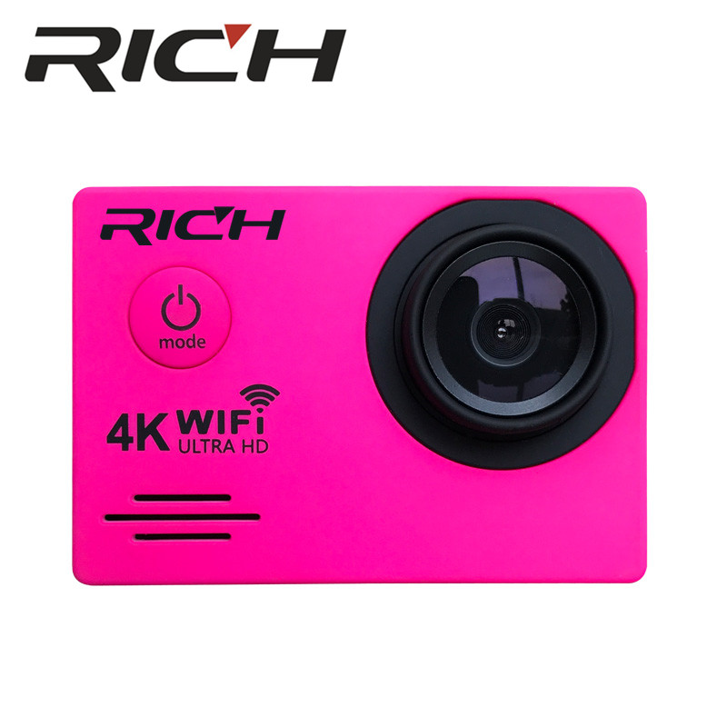 RICH J550R Sports Cameras 4K 2.7K 1080P Action Camera 16MP WiFi Sports Cameras 30M Waterproof 2.0LCD Full HD DVR 170 Cheap price Sports & Action Video Camera     - title=