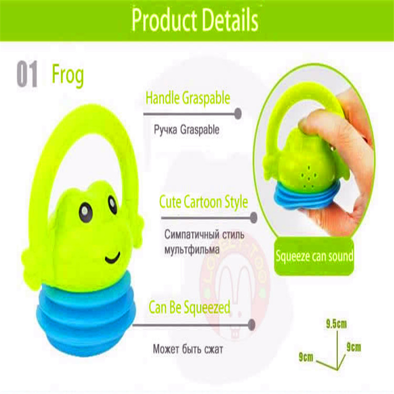 iEndyCn 8pcs/set Baby Cute Cartoon Tooth Bell Toys Baby Rattles Teether Toys For Baby 0-12months GXY062