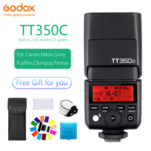 Mini flash Speedlite Godox TT350 TTL 2.4G Wireless Micro single Hot shoe USB For Canon Nikon Sony Olympus/Panasonic Fuji