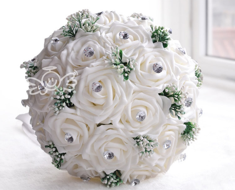 White And Gold Wedding Bouquets