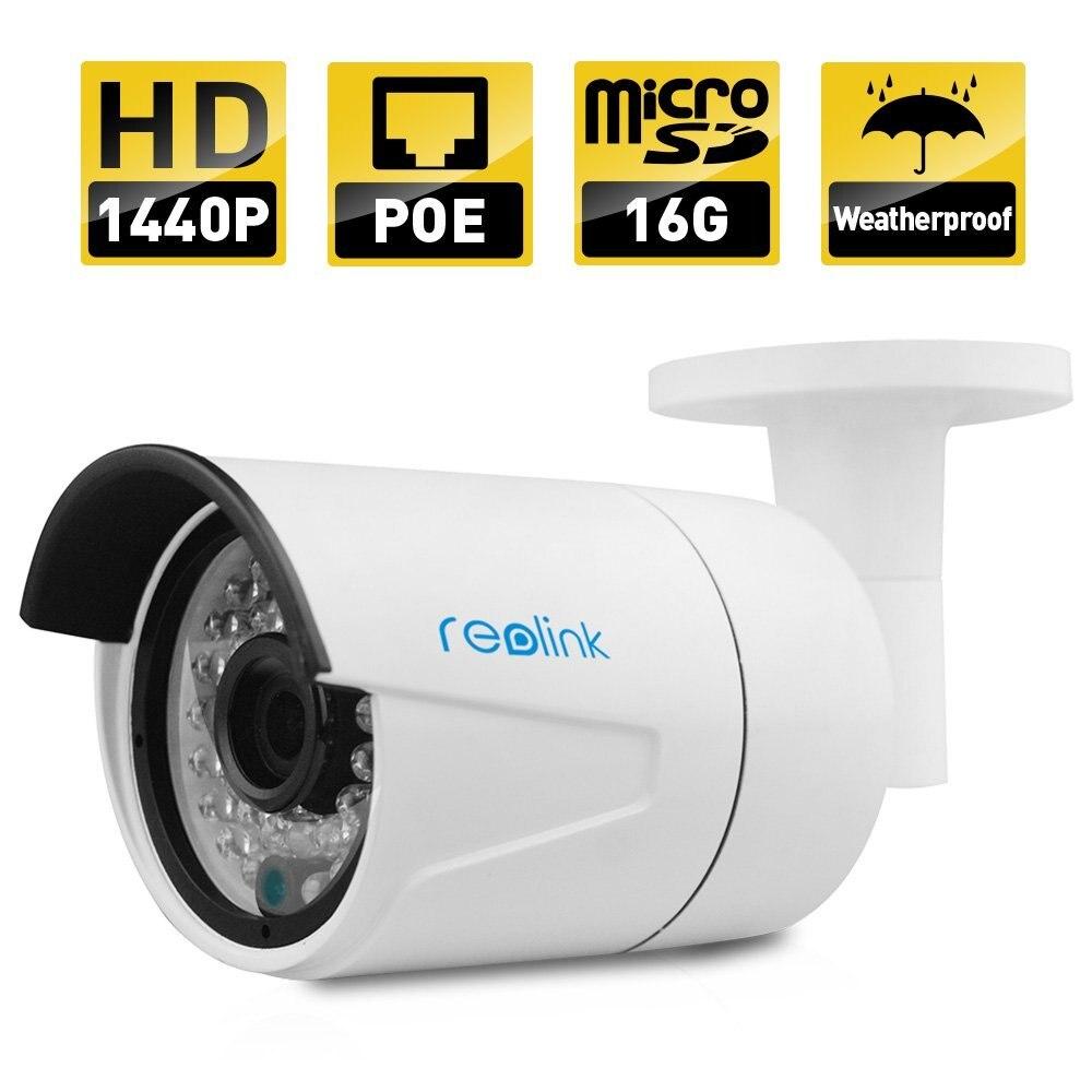 Reolink RLC-410S 1440 P безопасности POE ip-камера Встроенный 16 ГБ Micro SD карты Открытый водонепроницаемый Пуля Открытый ip-камера