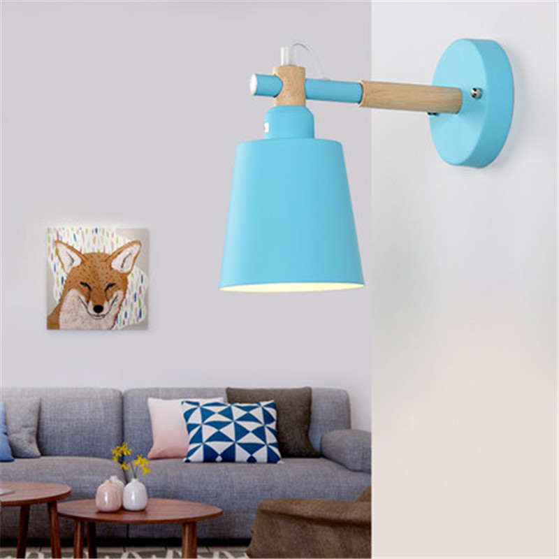 Nordic Loft Style Iron Modern LED Wall Light Fixtures Industrial Wind Wall Sconce Bedroom Bedside Wall Lamp Home Lighting nordic simple modern wall sconce industrial wind adjust iron wall light fixtures bedside led wall lamp home indoor lighting