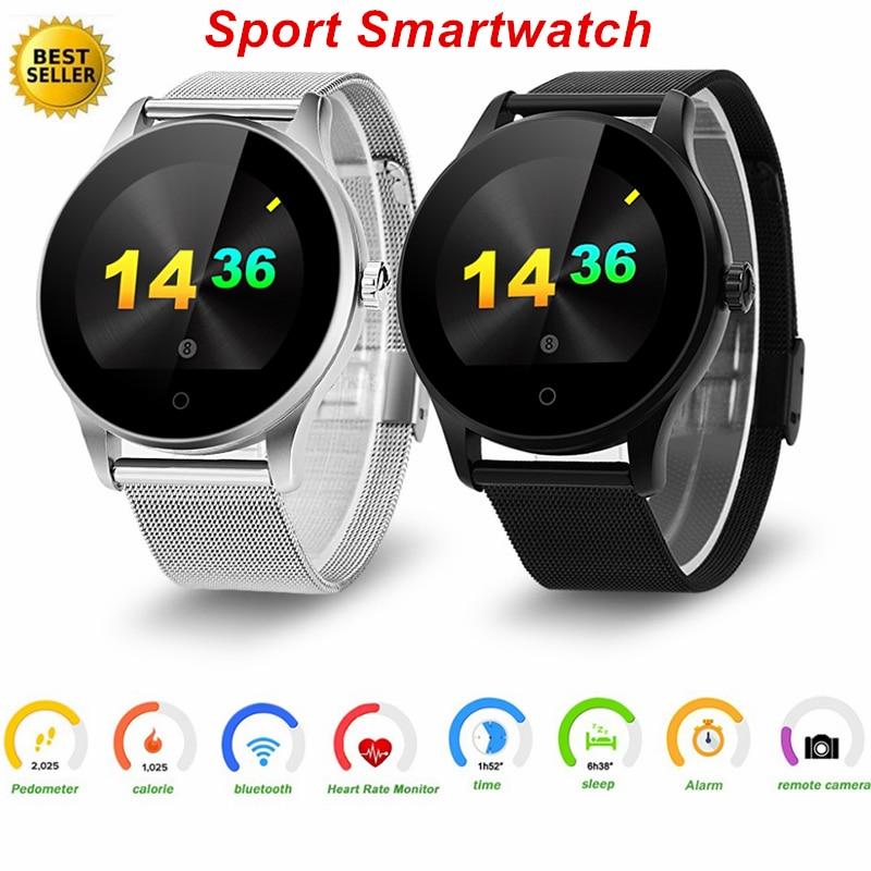 De Fréquence cardiaque Montre Smart Watch Hommes Étanche Bluetooth 4.0 Sport Montre Rappel Sédentaire À Distance Caméra Smartwatch Pour IOS Android