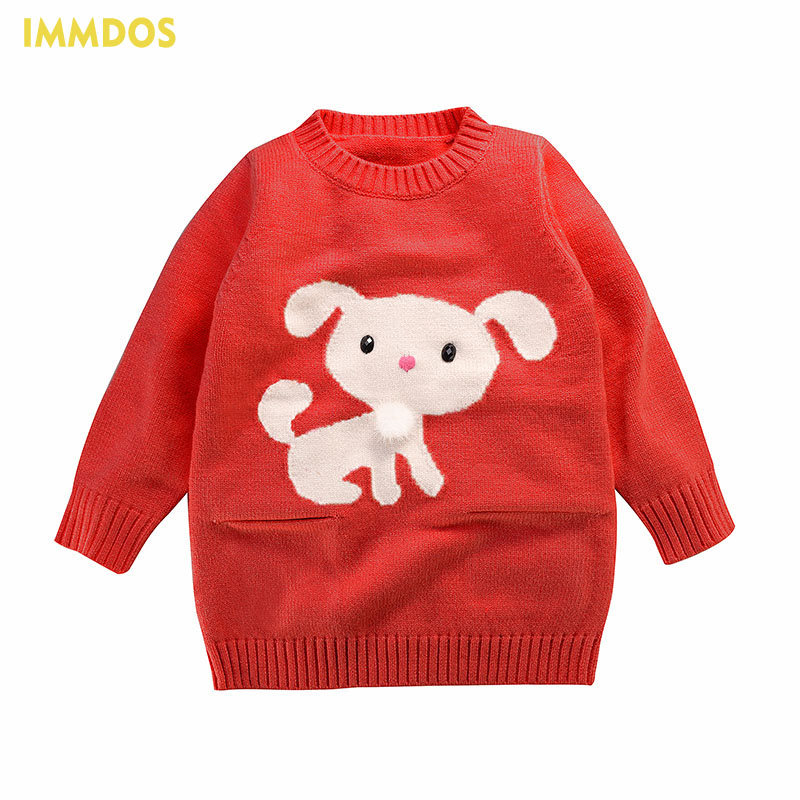 Kersttrui Kids.Immdos Girl Winter Clothes 2017 Brand New Kids Sweater O Neck