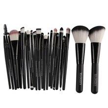 20Pcs Makeup Brushes + 2Pcs Big Powder Blush Foundation Brush pincel brochas maquillaje Eye Shadow Eyebrow Makeup Brush Set