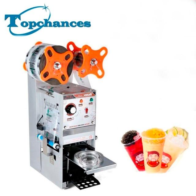 Full Automatic Bubble Tea Cup Sealing machine Fruit Juice Cup Sealer 220V S
