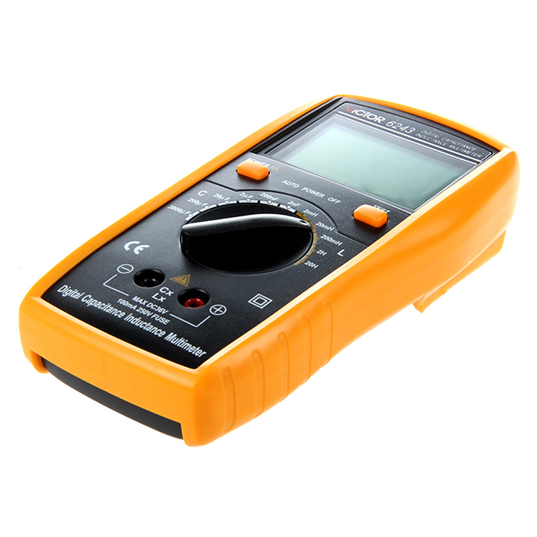 VICTOR VC6243 Digital LCR Multimeter with LCD Display yellow & Black excel dt9205a 3 lcd digital multimeter black orange 1 x 6f22