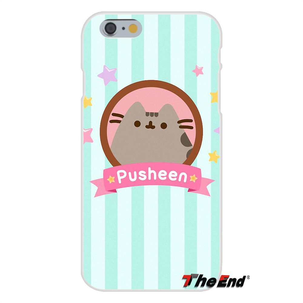 buy online 5f3bc cd300 US $0.99 |Cute Pusheen The Cat Gifs Silicone Phone Case Cover For iPhone X  4 4S 5 5S 5C SE 6 6S 7 8 Plus Galaxy Grand Core Prime Alpha-in Half-wrapped  ...