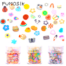 1 Box Flowers Fruit Fimo Canes Stick Polymer Clay 3D decoration for nail Nail Stickers Tips 5mm Slices DIY Design цена