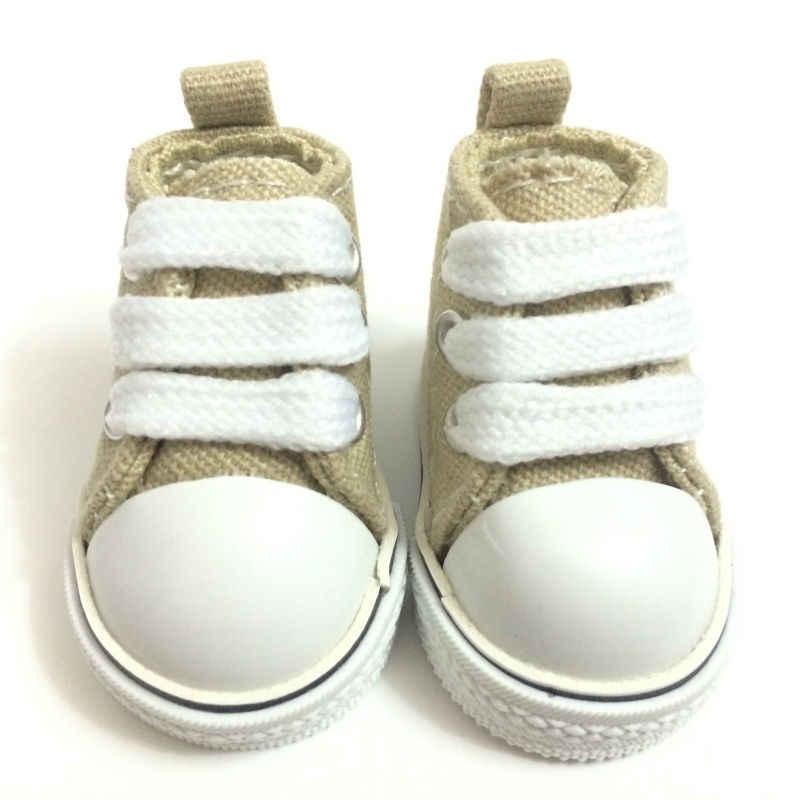 Мини-игрушка обувь 1/6 BJD кукольная обувь для см кукол, 5 см Повседневная парусиновая обувь, 1/6 кукольные сапоги модные аксессуары для кукол 12 пар/партия