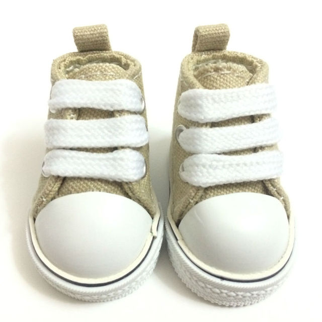 Mini Toy Shoes 1/6 BJD Doll Shoes for Dolls,5 CM Casual Canvas Shoes,1/6 Doll Boots Fashion Dolls Accessories 12 Pairs/Lot