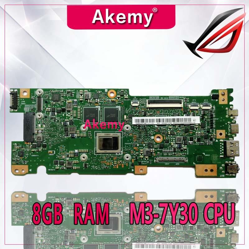 Akemy UX330CAK 8GB RAM M3 7Y30 CPU For ASUS ZenBook UX330CA UX330C UX330 laptop motherboard tested