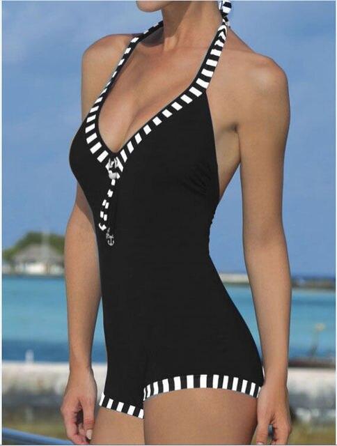 e4efe09535 2019 Black Big Size Swimsuit Women One Piece Plus Size Swimwear Sexy One-Piece  Bathing Suits Fringe Large Bust Swimsuits