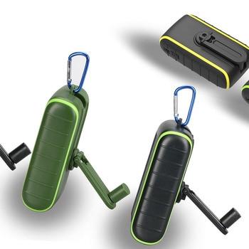 Hand Dynamo & Solar Energy Travel USB Charger portable external battery 6000mAh 8000mAh Power bank Manual Power Generation 6