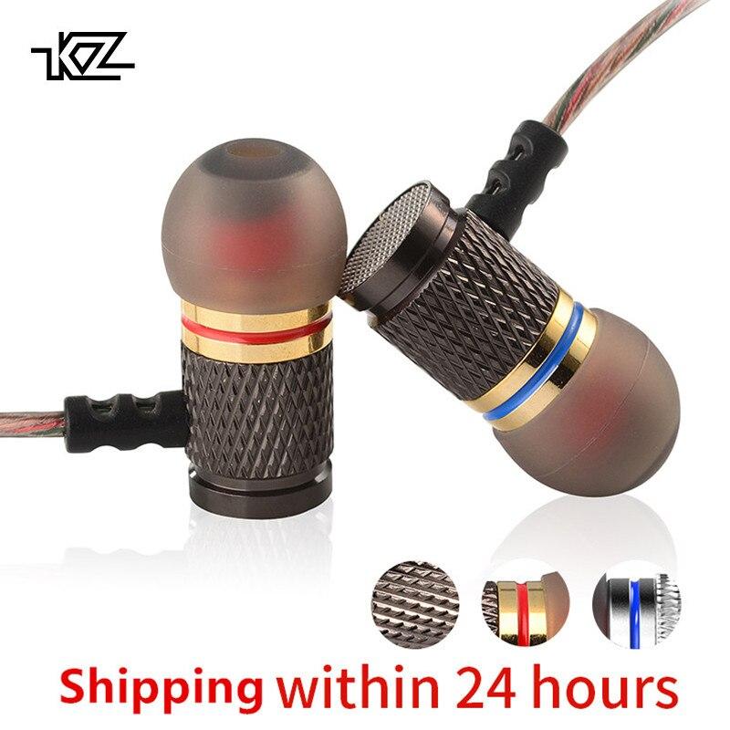 KZ ED edición especial del oro plateado vivienda imanes doble conductores con aislamiento de ruido HD HiFi auricular auriculares alta sensibilidad