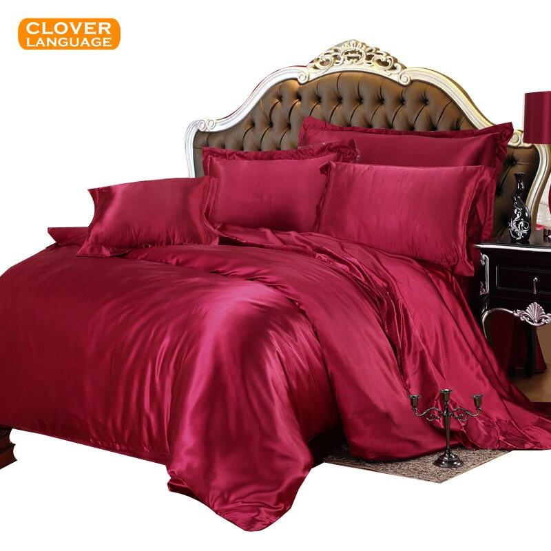 Tiesu stila satīna urbšanas gultas komplekti no Tencel sega / - Mājas tekstils