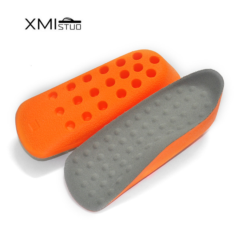 XMISTUO Arch support Massager Cushion PU Taller 2CM UP Height Increaseing Elevator Shoe Insoles Pad Lifts Shock-Absorbant Insert
