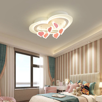 Modern Led bedroom Chandelier Sweet Heart romantic home simple modern creative personality wedding room ceiling Chandelier