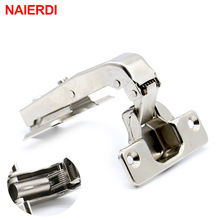 NAIERDI 90 Degree Hydraulic Hinge Angle Corner Fold Cabinet Door Hinges Furniture Hardware For Home Kitchen Cupboard With Screws